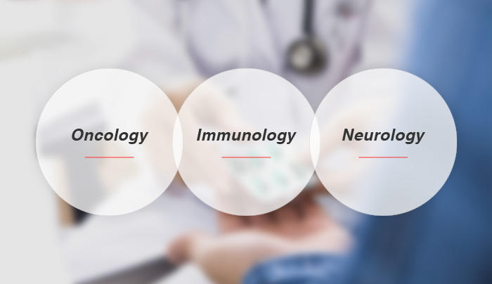 Focus on Oncology, CNS and Immunology